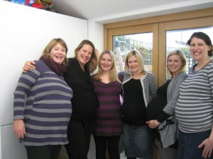 Suzanne with her away-from-home family. (L-R) Laura, Emily, Peigh, Suzanne, Clair and Harriet