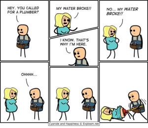 funny-plumber-pregnant-woman-comic